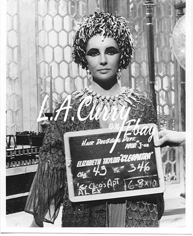 ELIZABETH TAYLOR CLEOPATRA HAIR TEST PHOTOGRAPH  1962