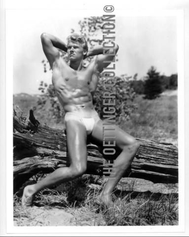 RICHARD ALAN ATHLETIC BEEFCAKE ICON MODEL OETTINGER PHOTOGRAPH 1953