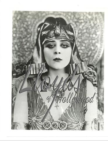 THEDA BARA RARE IMAGE CLEOPATRA VAMP PHOTOGRAPH 1917