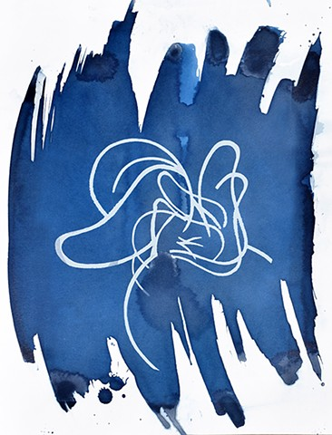 Cyanotype Drawing Untitled #3