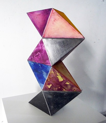 Polyhedra geometric sculpture series