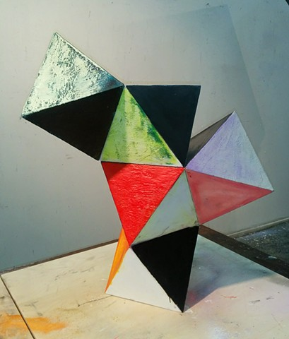 Geometric Polychrome sculpture