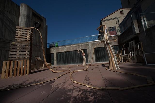 Illinois Street, coaster, Diego Rivera Gallery, San Francisco Art Institute, McBean Courtyard
