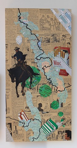 cowboy killers, maralboro, cowboy, racecars, california map