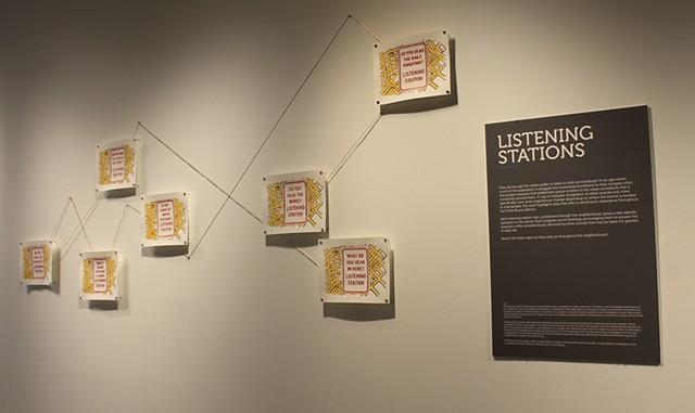 """""""Listening Stations"""" Gallery install."""