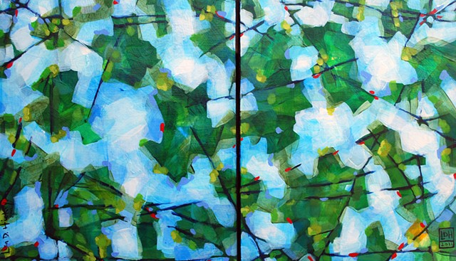 Green Summer Leaves - SOLD