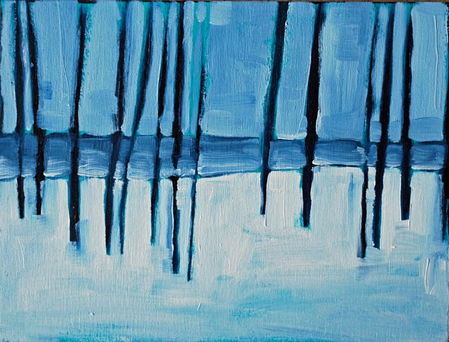 SOLD - Lake Huron Through the Trees