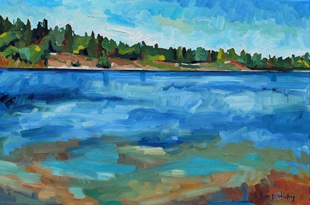 Franklin Island Shoreline, 30x20, oil on canvas
