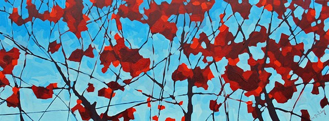 SOLD - Persistance is a Virtue, 48x18, acrylic on canvas,