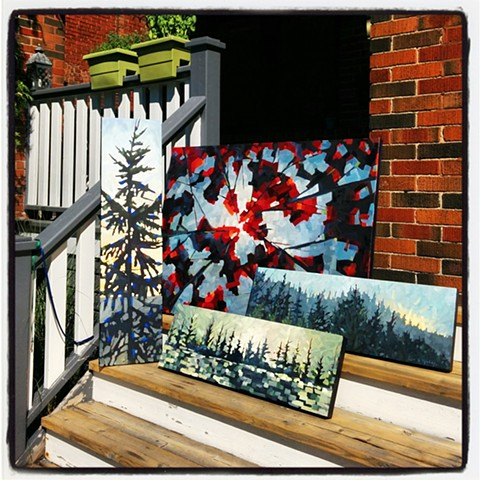 Art on the porch!