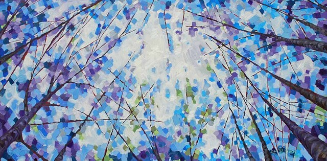 SOLD! - Start of Something New, Oil on Canvas, 48x24