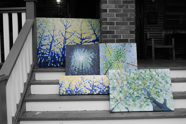 autumn paintings waiting to be shot for the portfolio