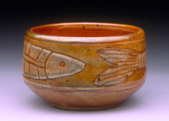 Shino Fish Teabowl 2