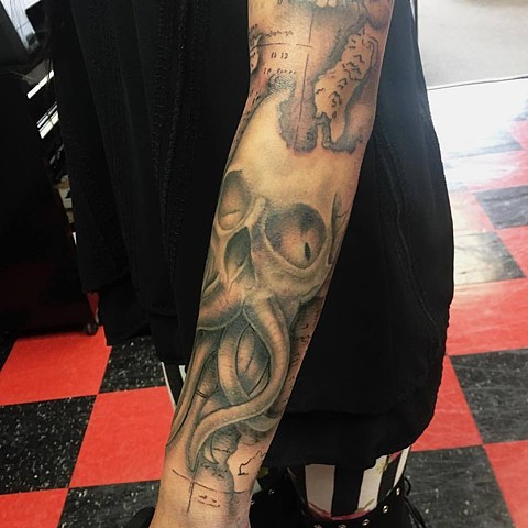 Mackenzie Meyers - Skull Octopus Sleeve