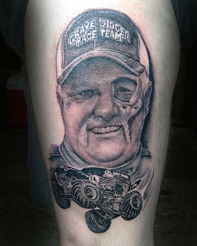 Ron Meyers Dennis Anderson Portrait Tattoo