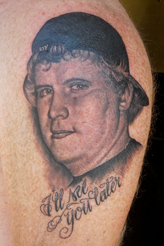 Ron Meyers - Memorial tattoo of a clients Son