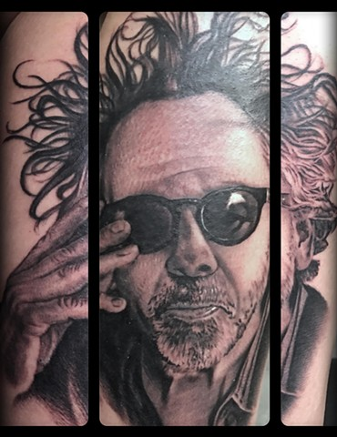 RonMeyers - Tim Burton Portrait Tattoo
