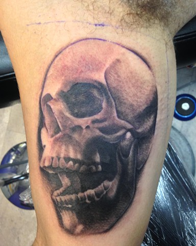Ron Meyers - Skull Tattoo