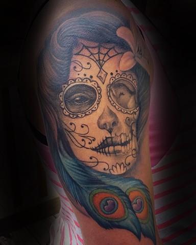 Low Lock Tattoo Studio Ron Meyers Day Of The Dead Girl Tattoo