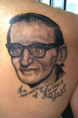 Ron Meyers - Memorial tattoo of James Yost