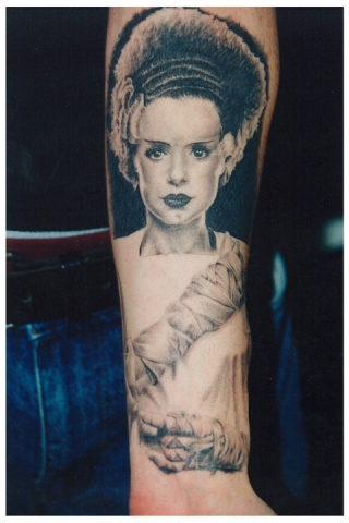 Ron Meyers - Bride of Frankenstein on Tattoo Artist Corey Cuc
