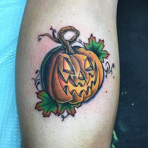 Mackenzie Meyers - Pumpkin Tattoo 2