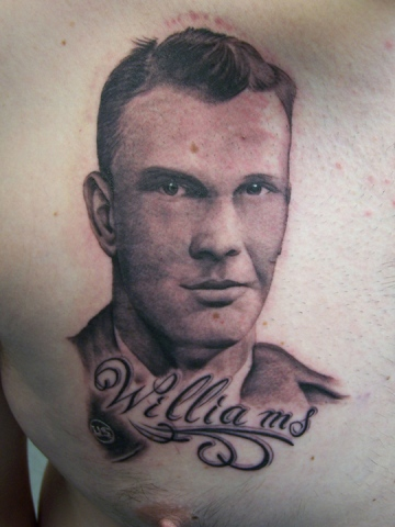 Ron Meyers - Tattoo on Big John Williams of his pap