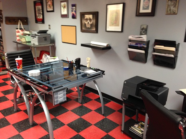 Low Lock Tattoo Studio Drawing Area