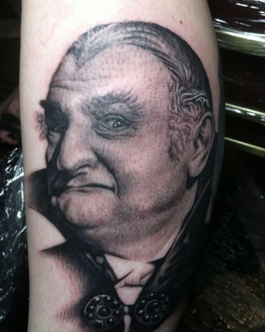 Ron Meyers Grampa Munster Portrait Tattoo