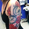 Ron Meyers - Roses & Compass half Sleeve Tattoo