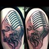 Ron Meyers - Skull Microphone Tattoo