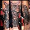 Ron Meyers - Skull Samurai tattoo