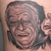 Ron Meyers - Tattoo of grampafrank on Wes from Body Language tattoo in columbus.