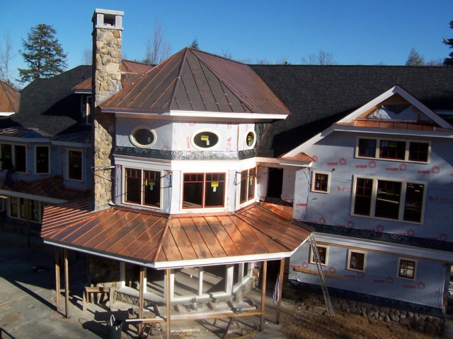 Standing Seam Copper Roof System