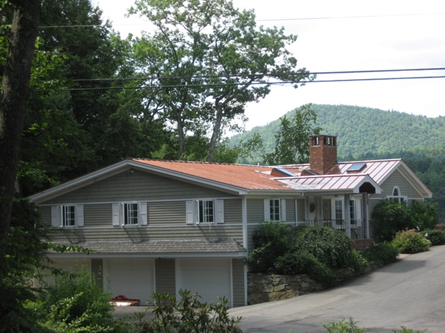 Standing Seam Double Lock Copper Roof