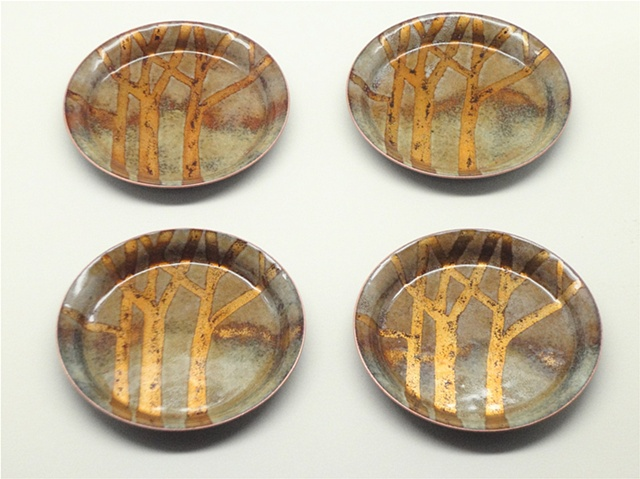 Golden Trees Set of 4