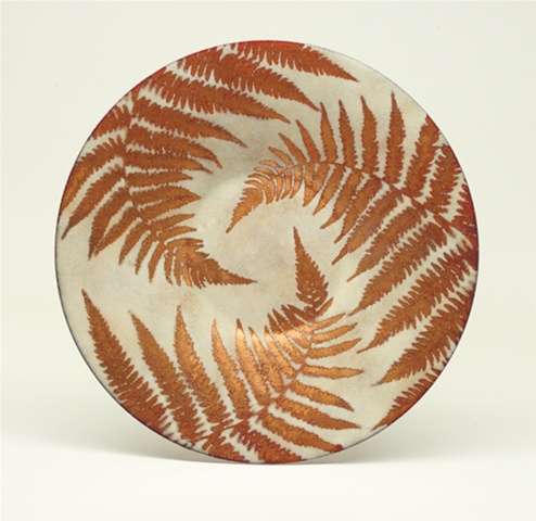 "Enameled Plate 8"" Round"