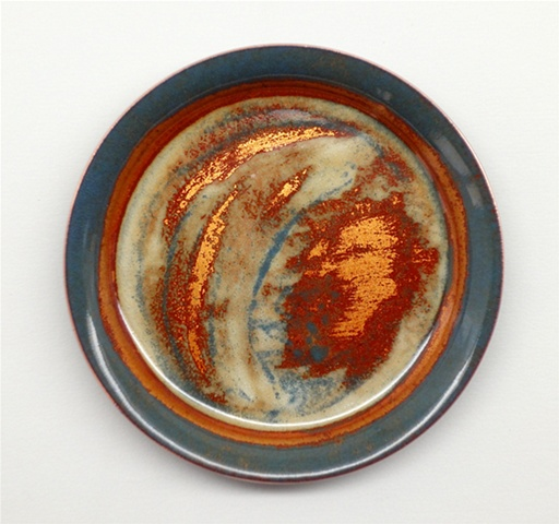 Copper enameled coasters.