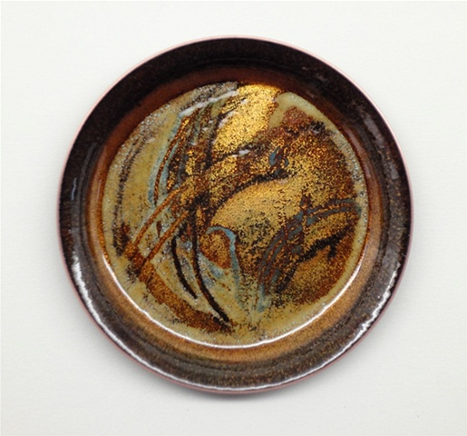Copper enameled cups for special occasions.