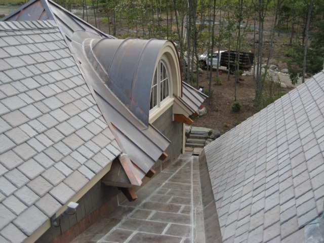 Flat lock roof