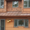 Copper standing seam.