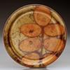 Copper Enamel Leaf Pattern