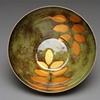 Copper Bowl Locus Leaf Pattern