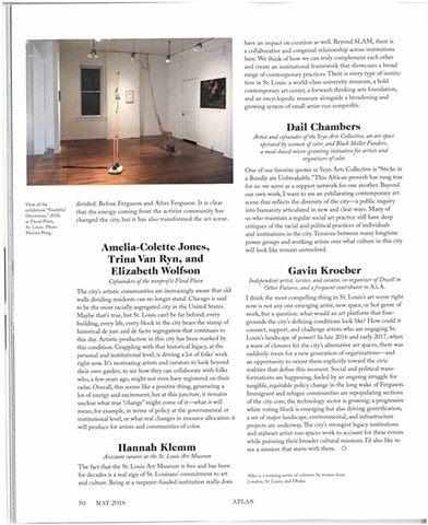"Publication of ""Youthful Discretion"" in Art in America Pg 2"
