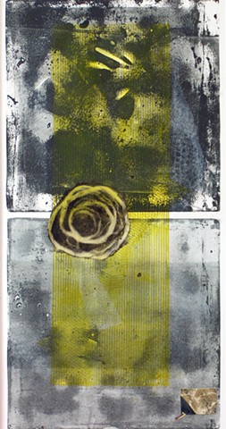 monotype black yellow abstract long narrow