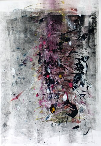 black gray grey pink abstract atmospheric white multi colored