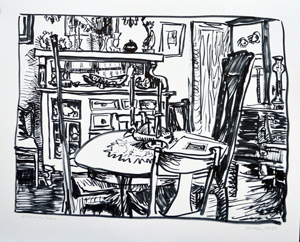 dining room(nude on the table)
