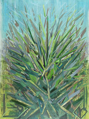Abstract oil painting of a plant by Kellie Lehr.  Nature, abstraction, plants, growth, symbolism