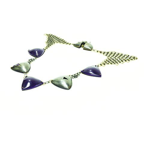 Contemporary Chainmail Neckpiece Plastic Handmade