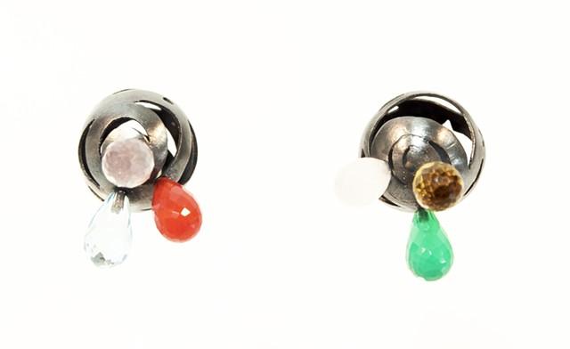 sterling silver art jewelry earrings